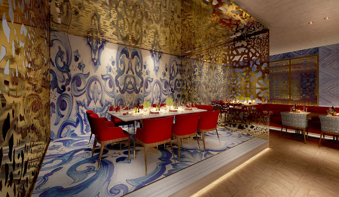 Interior design & fit-out for a Turkish restaurant